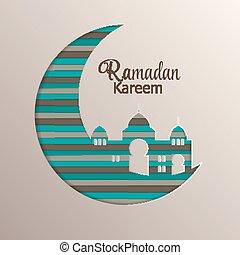 Background for Muslim Community Festival Ramadan Rareem. Eid...