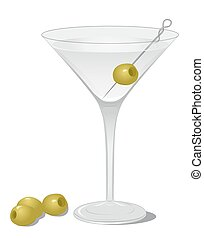 Dry Martini cocktail - Cocktail Dry Martini isolated on...