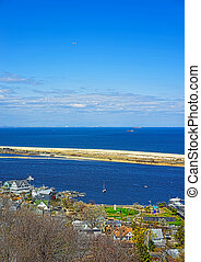 View on Houses and Atlantic Ocean from light house - View on...
