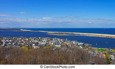 Houses and Atlantic Ocean at Sandy Hook - Houses and...