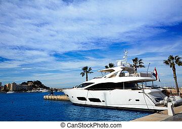 Denia port Marina in Mediterranean Spain - Denia port Marina...
