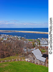 View of Houses and Atlantic Ocean from light house - View of...