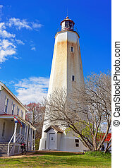 Sandy Hook Light house tower It is the oldest lighthouse...
