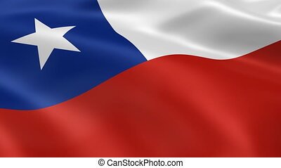 Chilean flag in the wind. Part of a series.