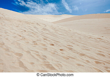 Desert with sand-dune - Hot desert, landscape from sand-hill...