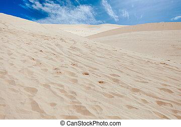 Desert with sand-dune - Hot desert, landscape from sand-hill...