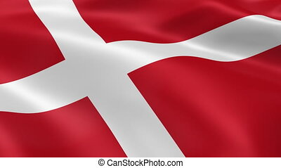 Danish flag in the wind Part of a series