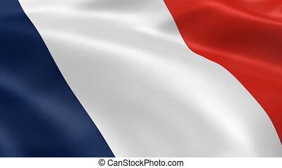 French flag in the wind