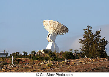 Communications satellite dish
