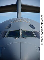 Air Force Cargo Jet Nose - A close-up showing the nose and...