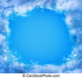nature background - blue sky