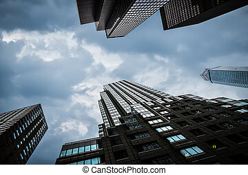 Modern buildings in New York City