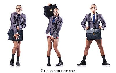 compuesto, foto, blanco, hombre de negocios