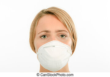 Wearing a mouth mask