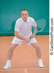 prepared tennis player