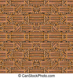 Wood Collage Pattern