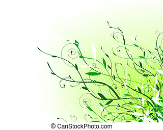 green floral vitality decoration with copyspace for your...