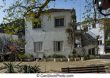 village of Panagia, Thassos, Greece - Old house and Wood...