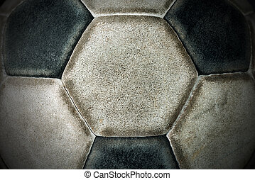 Detail of an Old Soccer Ball
