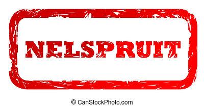 Used Nelspruit city stamp