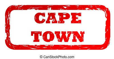 Used Cape Town city stamp