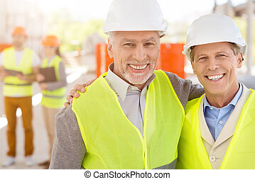 Construction project team Building industry - Friendly...