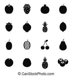 Fruit icons set