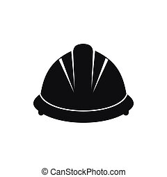 Construction helmet icon, simple style - Construction helmet...