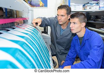 Industrial printing shop