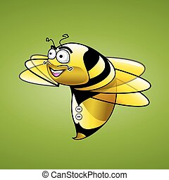 Bee Character vector illustration