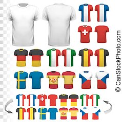 Collection of various soccer jerseys The T-shirt is...