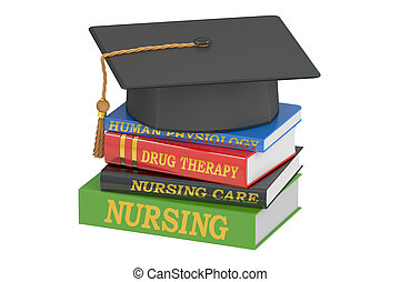 Nursing education concept, 3D rendering isolated on white...
