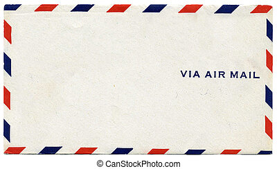 Via Airmail Envelope - Vintage air mail envelope with text