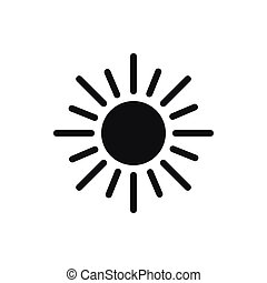 Sun icon, simple style