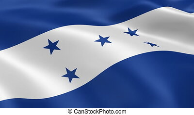 Honduran flag in the wind. Part of a series.
