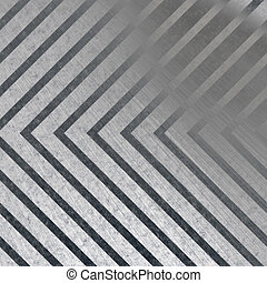 Hazard Stripe Metal