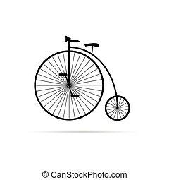 old bike illustration in black