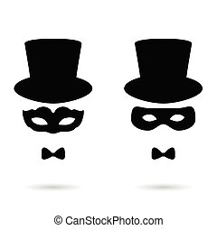 face man with mask illustration