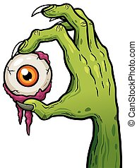 Zombie hand - Vector illustration of Cartoon Zombie hand...