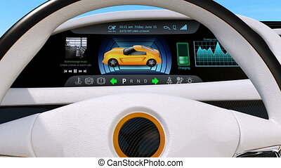 3D animation of EV console - 3D animation of electric...