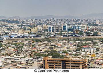 Aerial View of Guayaquil from Cerro Santa Ana - Aerial view...