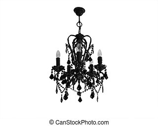 Chandelier light - Chandelier black with candle balbs...