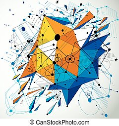 3d vector abstract colorful background created in Bauhaus...