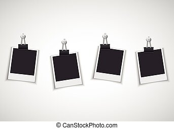 Photo frames with clip and pushpin