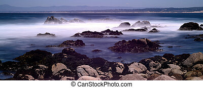 Time Lapse Monterey Bay California - Soft focus slow...