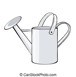Watering Can on white back ground