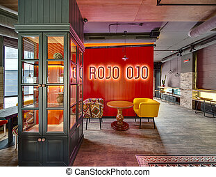 Mexican restaurants interior - Interior in a loft style in a...