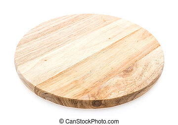 Wooden cutting board - Circle wooden cutting board isolated...