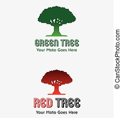 Red Tree Logos - A great and simple logo CMYK Editable and...