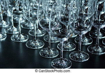 Wine glasses abstract background - Many wine glasses...